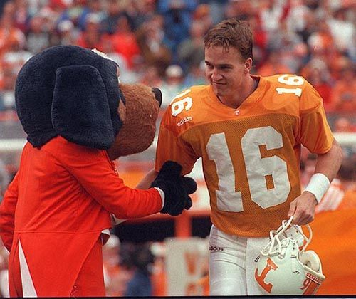 My all time favorite quarterback; Peyton Manning. He started his career by playing for Tennessee, went on to be a Colt, and now a Bronco. I will always be a fan! VFL