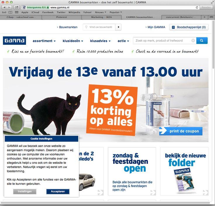 De Gamma lijkt voor mij wel een concurrent van IKEA omdat ze beide zich op de doe het zelf-er storten, ook is de gamma niet de duurste, en beide hebben ook grote filialen.