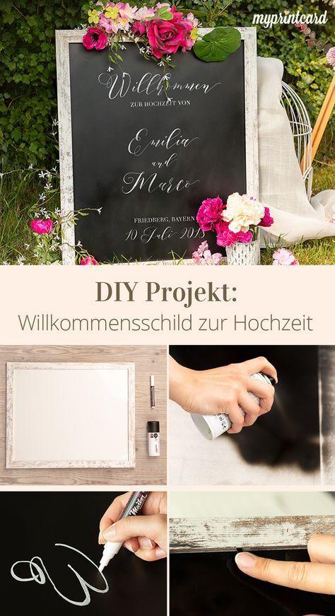 Schilder selbst gestalten: Das Willkommensschild zur Hochzeit