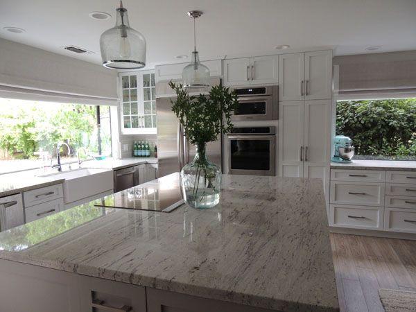 River White Granite Countertops, Transitional, kitchen, Sherwin Williams Dorian Gray, K Sarah Designs