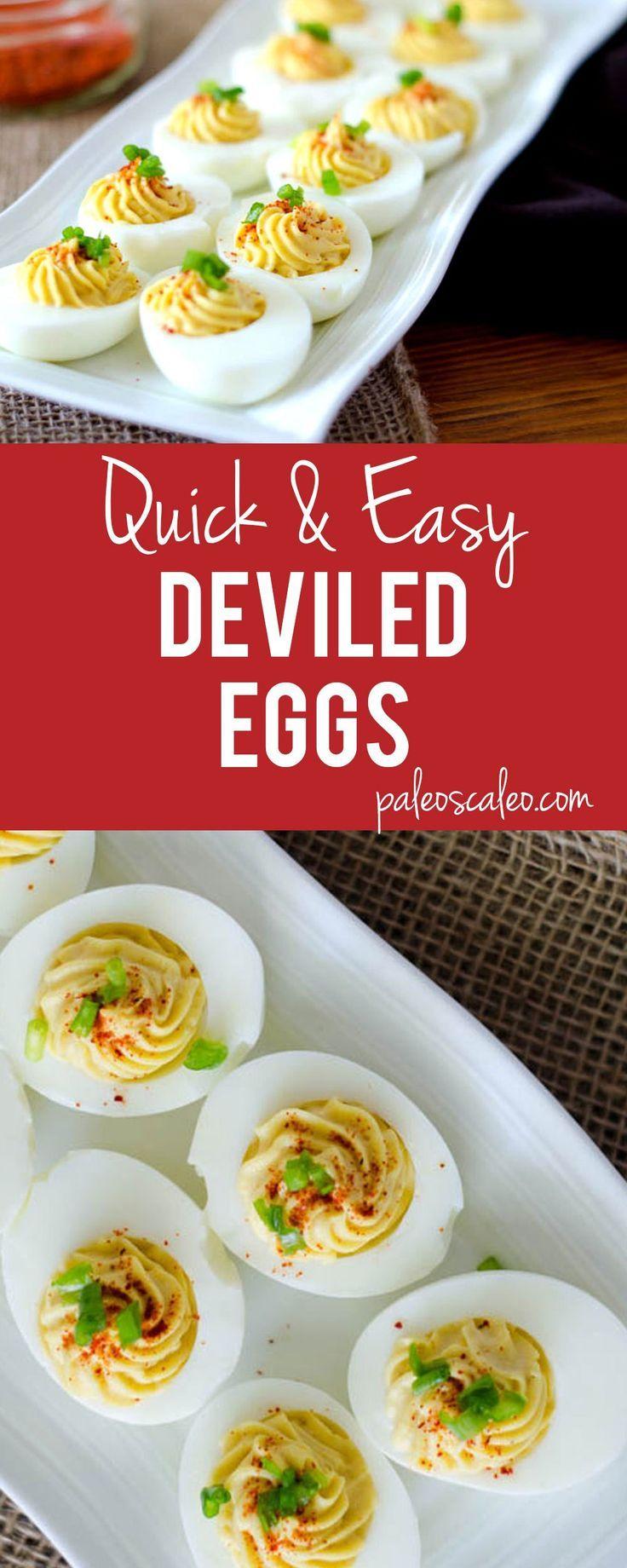 Quick & Easy Deviled Eggs | http://PaleoScaleo.com