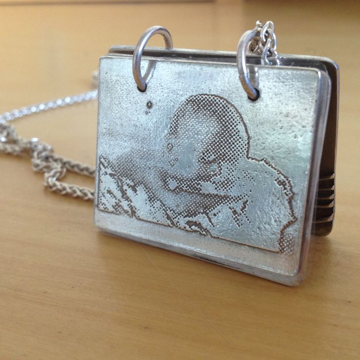 Baby Edward's first moments #etched #photography #silver #necklace