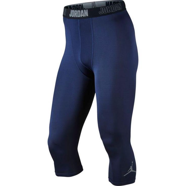 Jordan Men's AJ All Season 3/4 Length Compression Tights, Size: XXL, Blue