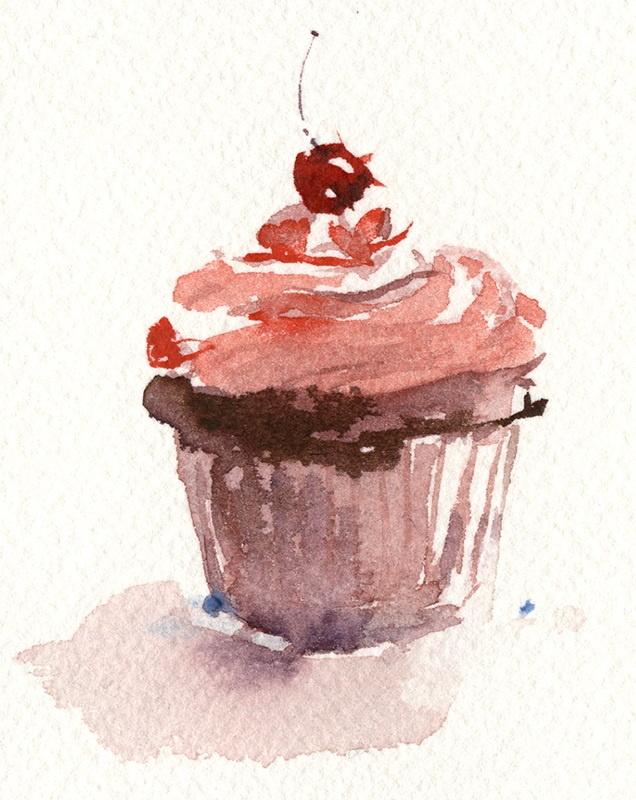 Cupcake en un lienzo