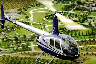 Take a helicopter tour over the Hunter Valley, NSW's prime wine-growing region.