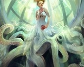 I love this painting :) Octopus bride