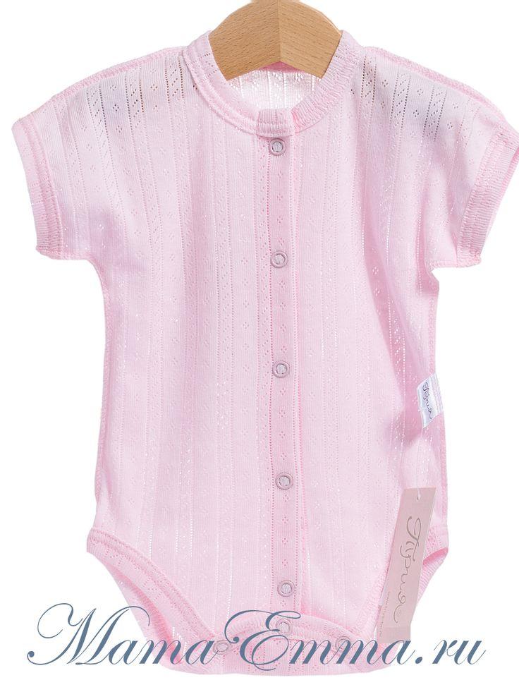 Детские бодики ТриЯ розовые ажурные купить для новорожденной девочки