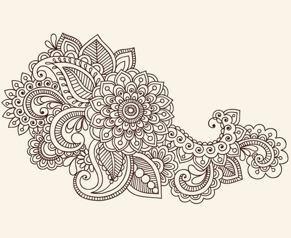Abstract Flowers Dense, FREE Vector
