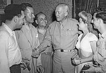 Hal Block, Bob Hope, Barney Dean, George Patton, Langford and Tony Romano