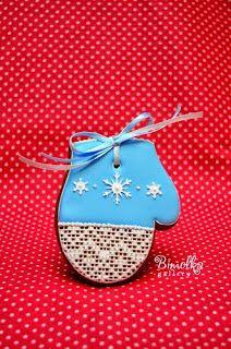 Christmas mitten. Master class by Даша Рокицкая.