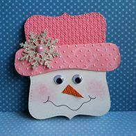 Snowman face from Cricut cut shape