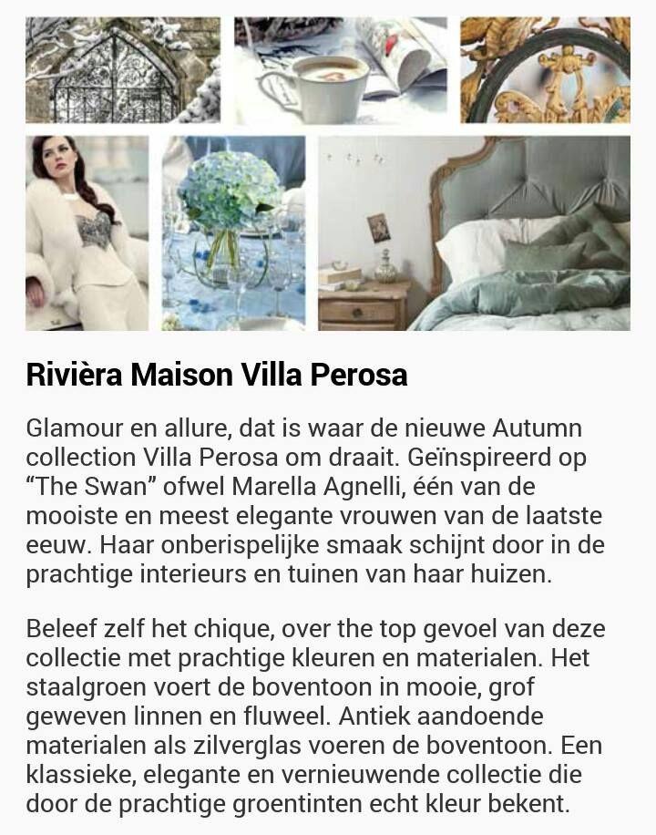 Riviera Maison thema 'Villa Perosa'  fall/winter 2016