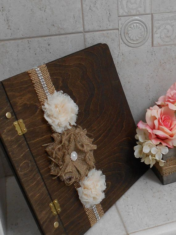 Wedding Guest Book Wishes Wooden By Thelacemoon