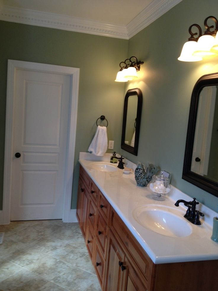Sw 6178 Clary Sage Office Color Green Bathroom Green
