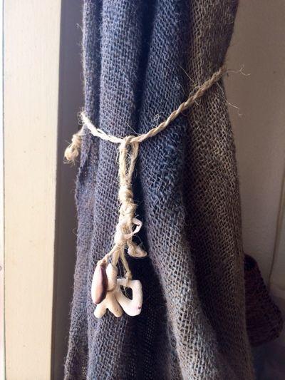 DIY! 貝と珊瑚で、カーテンタッセルを手作り : 海を感じる暮らし ... パナファ,panapha,沖縄,ハンドメイド,手作り,DIY,カーテンタッセル,貝