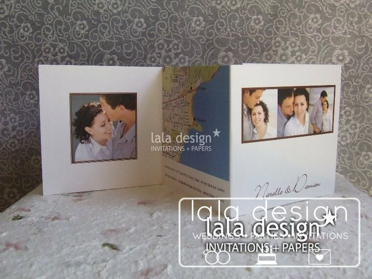 Photography fold out graphic wedding invitation