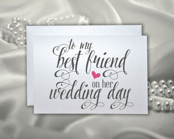 Wedding gift card for best friend wedding bridal by PicmatCards