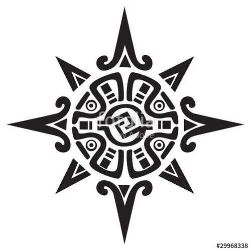"""Laden Sie den lizenzfreien Vektor """"Mayan or Incan symbol of a sun or star"""" von Morphart zum günstigen Preis auf Fotolia.com herunter. Stöbern Sie in unserer Bilddatenbank und finden Sie schnell das perfekte Stockbild für Ihr Marketing-Projekt!"""