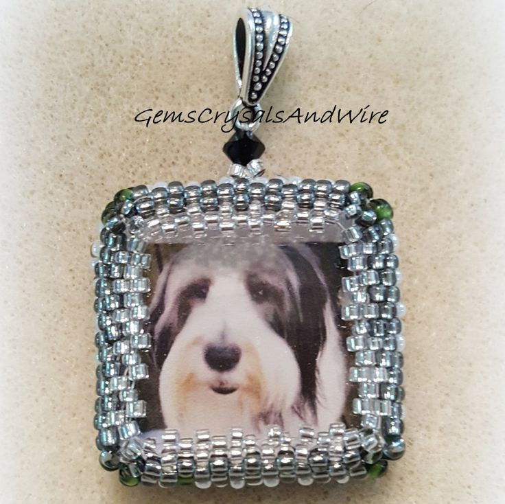 Keepsake, Pet Keepsake, Pet memorial, Keepsake Pendant, Pet Ornament, OOAK, Beaded pet, Memorial, Special Gift by GemsCrystalsAndWire on Etsy
