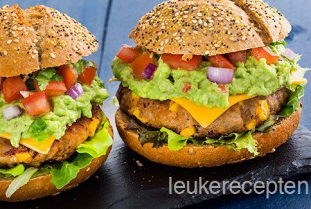 Mexicaanse hamburger - misschien ook lekker zonder broodje, met rijst? of nacho's?