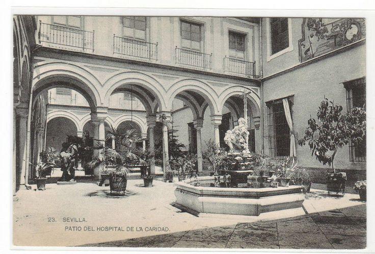 Patio Del Hospital de La Caridad Seville Sevilla Spain 1910c Postcard | eBay