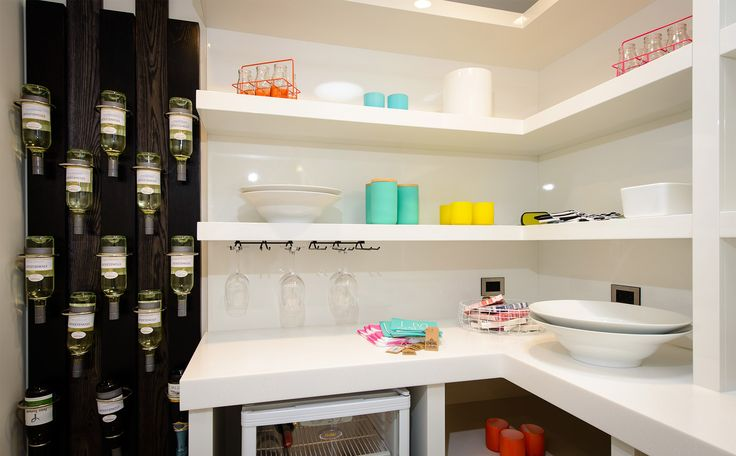 The stylish wine rack completes this gem of a pantry / scullery