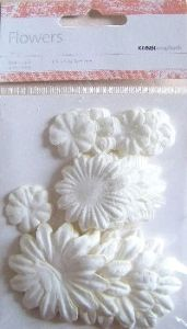 Kaisercraft Paper Flowers ~ Mixed Sizes ~ Snow | Always Treasured Scrapbooking
