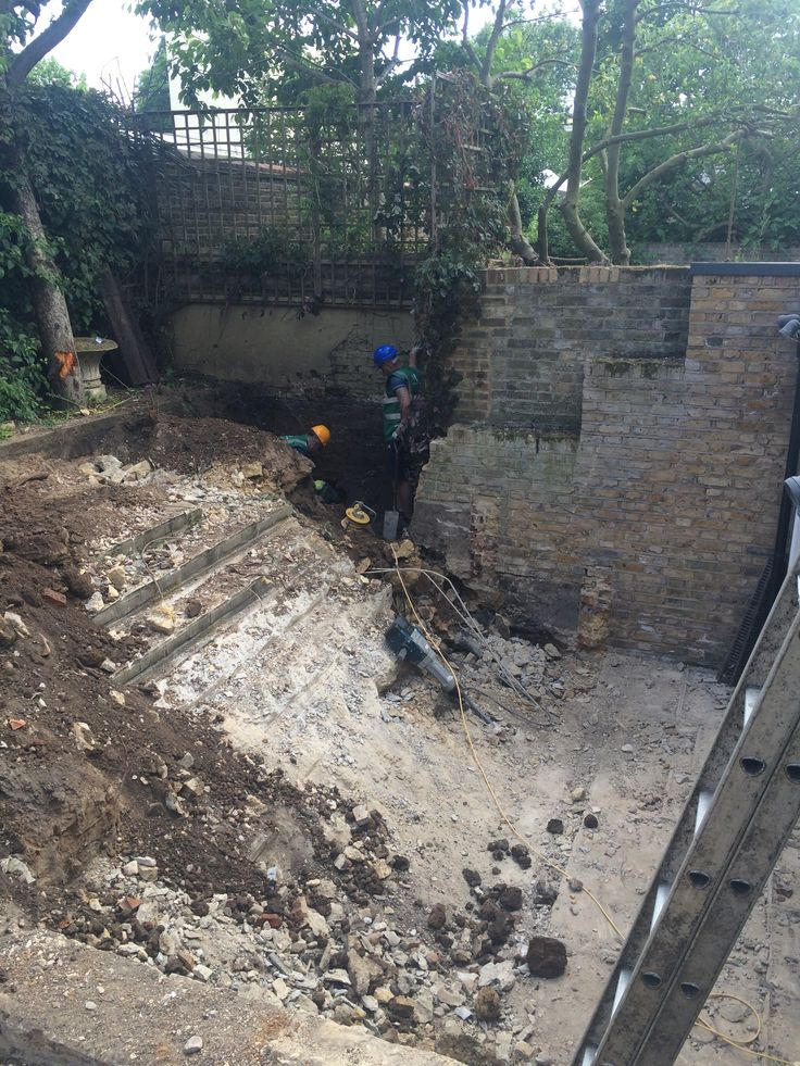 Dig out has started for landscaping and underground games room at Ravenscourt Park