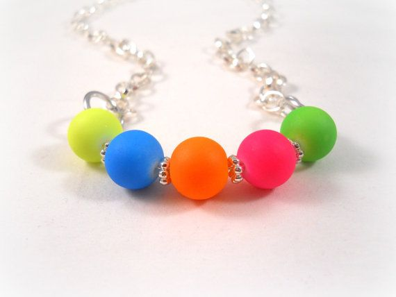 Neon Necklace Neon Jewelry Summer Accessories for by foreverandrea, $18.00
