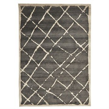 Egyptian Made Moroccan Rustic Design Rug in Grey - 330x240cm