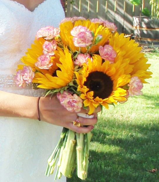 Pale Pink Wedding Flower Bouquets: Yes! Love These Colors...sunflowers With A Different Pale