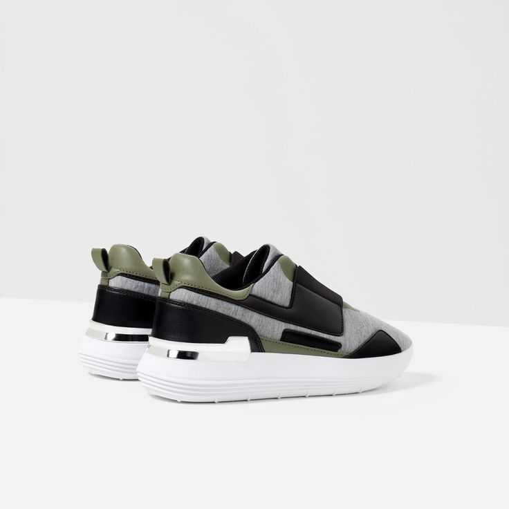 Woman Shoes, Sneakers, Ps, Zara, Contrast, Wide Fit Women's Shoes, Tennis  Sneakers, Slippers, Trainer Shoes