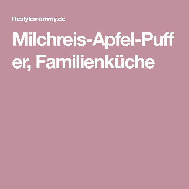 Milchreis-Apfel-Puffer, Familienküche