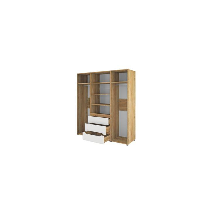 Леонардо Шкаф для одежды МН-026-09 (дуб сонома/белый глянец) | Neva-fort