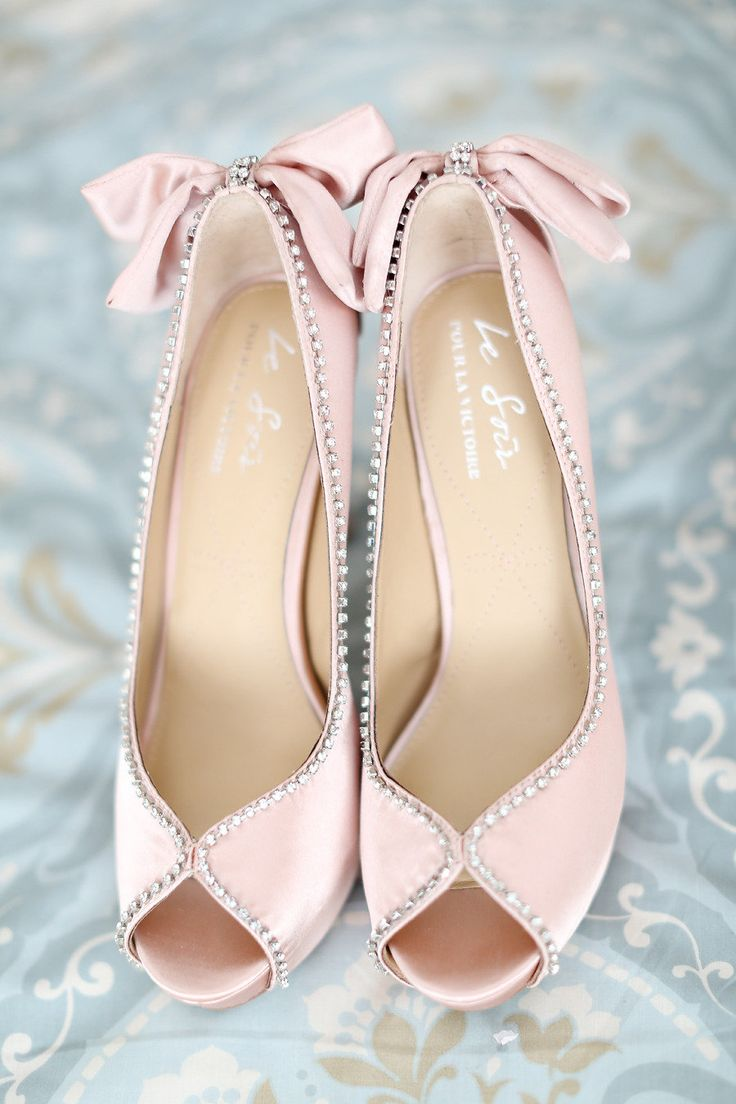 Cutest bride shoes ever! With bows!! Mallard Island NJ Photography By / http://kayenglishphotography.com,Wedding Planning By / http://bellabridalconsultants.com
