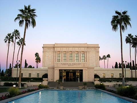 Mesa, AZ, LDS Temple. I went to this temple with my husband and his parents. This temple holds a lot of importance to my mother's side of the family. They also have a large pageant on the grounds every Easter.