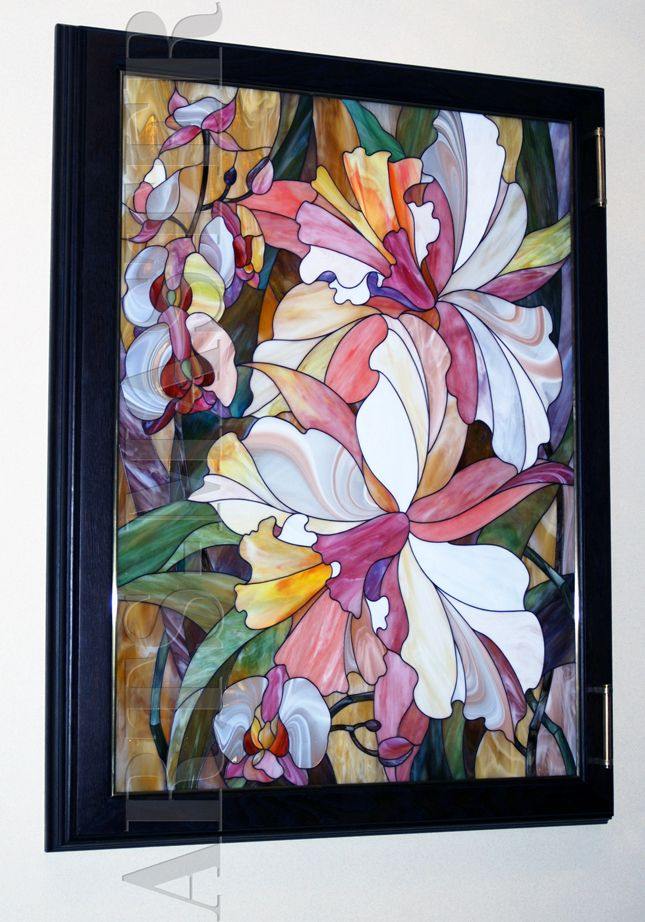 "Stained glass in the frame of ""Orchids"""