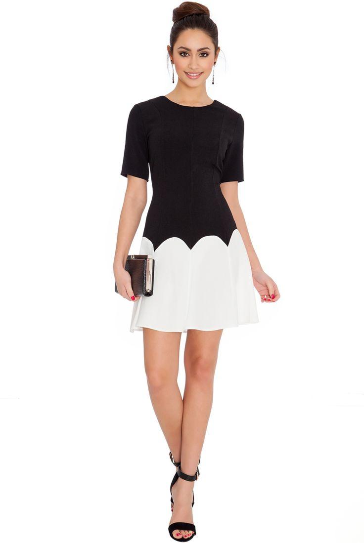 COLOUR-BLOCK BACK V-NECK SKATER DRESS #citygoddess #citygoddesswholesale #wholesale #minidress #casualdress #dress #fashion