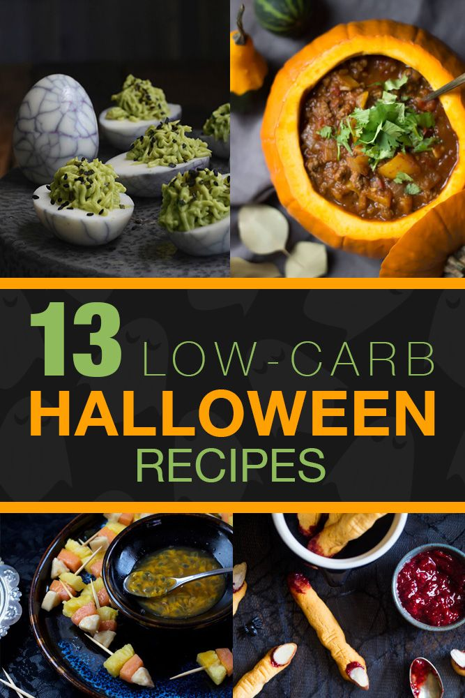 Low-Carb Recipes For Halloween. Gluten-Free, Healthy