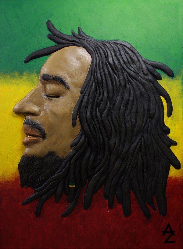 """""""Bob Marley"""" bas-relief, sculpture"""