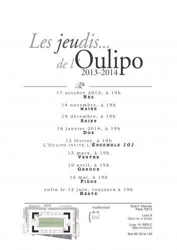 remue.net : Les jeudis de l'OuLiPo à la BNF