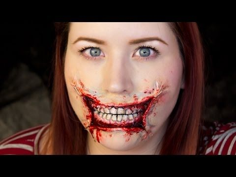 ▶ 3D Stretched Lips / Halloween Makeup Tutorial - YouTube