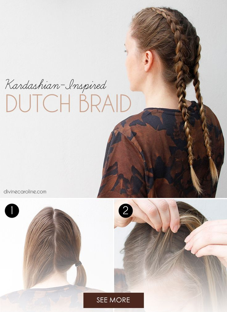 These cool-looking Dutch braids (also known as boxer braids) have been popular for decades, so while the Kardashians certainly didn't invent the trend, they've definitely revived it. Since the hairstyle can easily lean toward a casual, sporty look, pair your braids with feminine makeup and accessories to achieve the sisters' notoriously glamorous look.