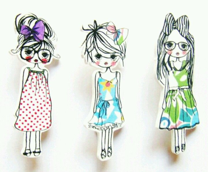 shrink plastic 'trend girls' broche Plastique fou dingue DIY