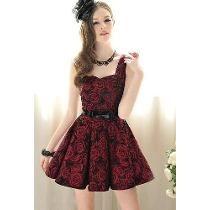 vestidos de formatura curtos vinho - Pesquisa Google