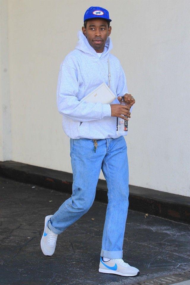 Tyler The Creator wearing Nike Air Tailwind 79 Vast Grey