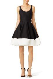 Silk Faille Tulip Skirt Dress by Halston Heritage