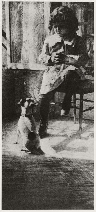 Jack and his Dog // photo by Robert Demachy (1859-1936), MFA-Boston