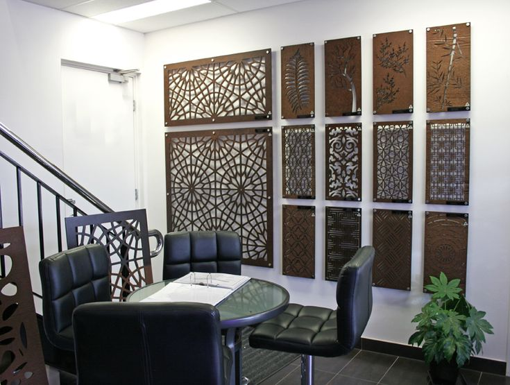 The main reception area for our customers here at QAQ Melbourne. Sales staff can assist in choosing the right design, material, size, an finish for your home improvement project. #decorativescreens #privacyscreens #walldecor #wallpanels