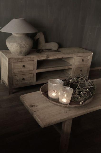 Oud+houten+tv+meubel